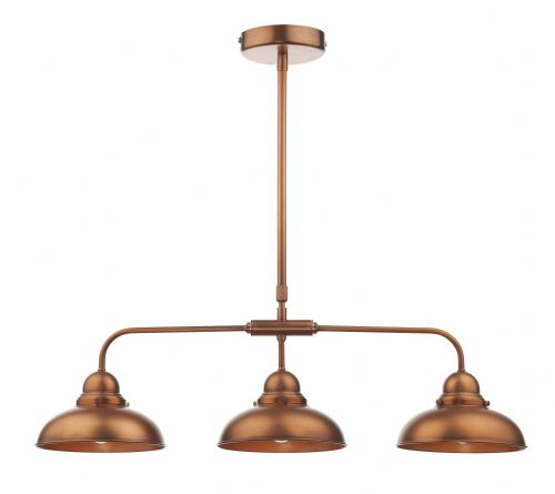Dynamo 3 Light Bar Pendant Antique Copper (Class 2 Double Insulated) BXDYN0364-17